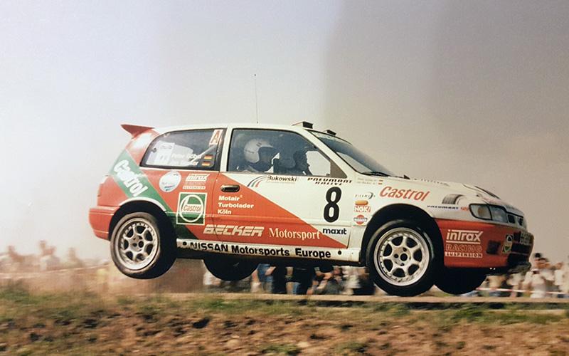 Jan Becker / Peter Göbel | NISSAN Sunny GTI-R Gruppe A | Deutsche Rallyemeisterschaft